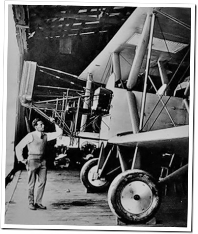 A young Donald Douglas with a bi-plane