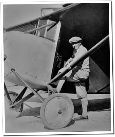Douglas with an early plane