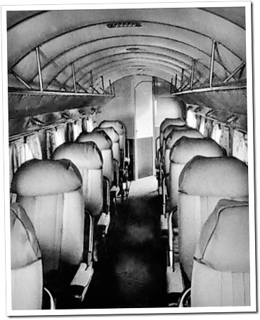 Interior view of a DC-2