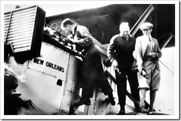 Mechanics work on the Douglas World Cruiser New Orleans