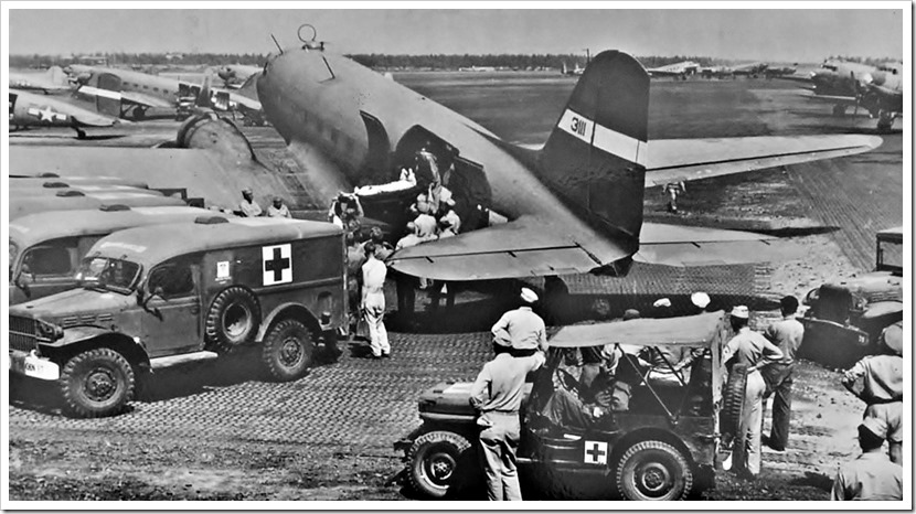 Douglas aircraft served many functions during WWII, including transporting injured soldiers