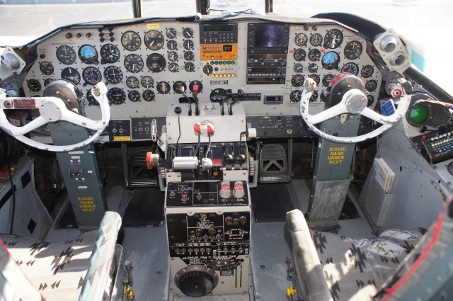 The P2V flight deck – Photo: Julian Cordle | Museum of Flying